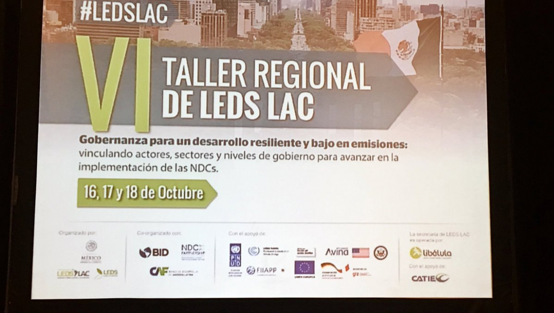 SinergiAr participó del VI Taller Regional de la Plataforma LEDS LAC: Algunas consideraciones